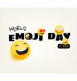 world emoji day greeting card happy emoji day vector image