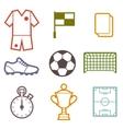 Set of sports soccer football symbols vector image