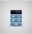a realistic calculator icon vector image vector image