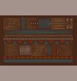 african art line hand drawn tribal decoration set vector image vector image
