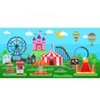 Amusement Park Panorama vector image vector image