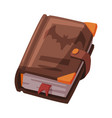 ancient magic book witchcraft attribute happy vector image vector image