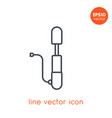 bicycle pump icon on white in linear style vector image vector image