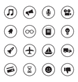 black flat transport and miscellaneous icon set vector image vector image