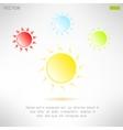 Bright sun icon in modern design Hot solar emblem
