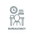 bureaucracy line icon linear concept vector image vector image