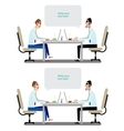 Business conversation vector image vector image
