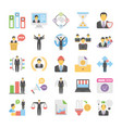 business flat colored icons 10 vector image vector image