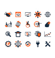 Business icon set Software and web development vector image vector image