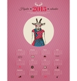 Calendar template hipster design Year of the goat vector image vector image