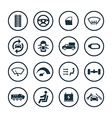 car icons universal set vector image vector image