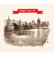 Charles bridge vector image