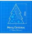 Christmas tree on graph paper vector image vector image