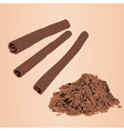 cinnamon sticks and powder vector image