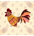 Cock bird ethnic pattern birthday balloons vector image vector image