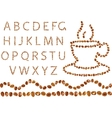 coffee alphabet vector image