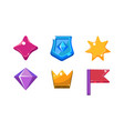 colorful bright jelly shapes set crystal shield vector image