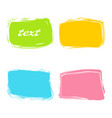Colorful rectangular banners vector image