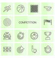 competition icons vector image vector image