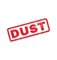 Dust Text Rubber Stamp vector image vector image