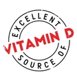 Excellent source of vitamin D stamp vector image vector image