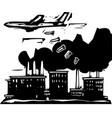 factory bombing vector image