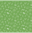 farm seamless pattern background set vector image vector image