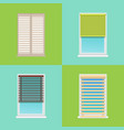 four patterns of various multicolored jalousies vector image vector image