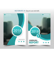 green curve circle annual report brochure design vector image vector image