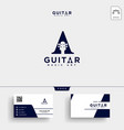 guitar music initial a logo template and business vector image