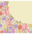 Hand drawn floral pattern vector image