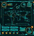 HUD navigation map screen elements vector image vector image