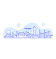 hyderabad skyline telangana india city line vector image vector image