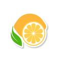Lemon fruit icon label vector image vector image