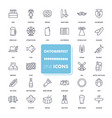 line icons set octoberfest vector image vector image