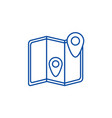 location map line icon concept location map flat vector image vector image