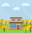 lone two-storey house vector image vector image