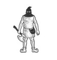 medieval executioner sketch vector image