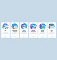 mobile app onboarding screens hospital lab vector image vector image
