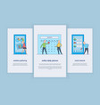 mobile app with user-friendly interface concept vector image