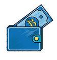nice wallet to save bill money vector image vector image