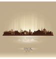 Omsk Russia skyline city silhouette vector image vector image