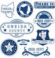 Oneida county New York vector image vector image
