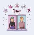 online dating design vector image
