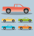 pickup truck vector image vector image
