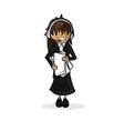 Profession secretary woman cartoon figure vector image vector image