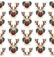 pug in deer costume seamless pattern vector image vector image