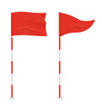 red golf flags isolated on background vector image vector image