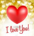red heart symbols vector image vector image
