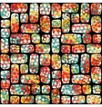Retro seamless pattern with mosaic of flowers vector image vector image